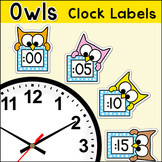 Owl Theme Telling Time Clock Labels