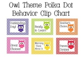 Owl Theme Polka Dot Behavior Clip Chart