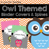 Owl Themed Binder Covers and Spines Editable