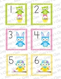 Owl Themed Calendar Cards - April