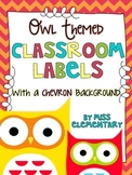 Owl Themed Classroom Labels [Organize your classroom!]