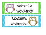 Owl Themed Classroom Schedule Cards