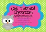 Owl Themed Classroom