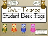 Owl Themed Student Desk Tags