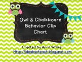 Owl and Chalkboard Behavior Clip Chart