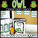 Owl and Polka Dot Themed Editable Classroom Pack