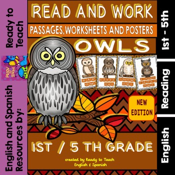 Owls Easy Readings and Worksheets (Life Cycle -Flip Flaps and more...)