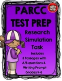 PARCC Test Prep: Research Task with Three Passages/Questio