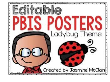 PBIS Classroom Displays (Ladybug Theme)