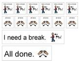 """PECS communication board - """"break""""/""""all done"""""""