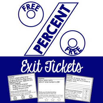 PERCENT Exit Tickets FREE!