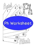 PH Worksheet Coloring Page Litmus Paper Chemistry PDF Printable