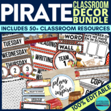 PIRATE Theme EDITABLE Classroom Essentials-34 Printable Pr