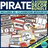 PIRATES Classroom Theme EDITABLE Decor 34 Printable Produc
