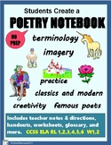 POETRY NOTEBOOK: Lessons, worksheets, and activities