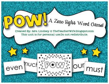 POW! A Zeno Sight Word Game