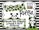 PandaRiffic Common Core Aligned Literacy and Math Activities