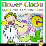 Free Clock Template (Paper Plate Flower Clock)