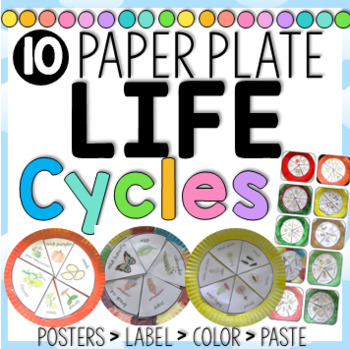 Paper Plate Life Cycles, Frog, Pumpkin, Apple, Sunflower and more