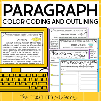 Paragraph Color Coding and Outlining: Common Core Writing