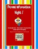 Parent Night Teacher Toolbox
