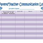 Parent Teacher Communication Record Form