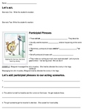 Participial Phrase Lesson & Practice