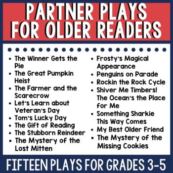 Partner Script and Comprehension Activity Bundle