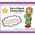 Parts of Speech 4 Corners Game: Free Grammar Review! (3rd,