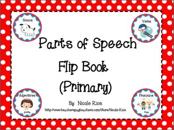 Parts of Speech Flipbook
