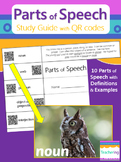 Parts of Speech Study Guide with QR Codes {Links to Photos}