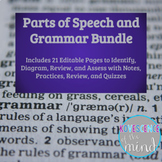 Parts of Speech - Grammar Units: Identify, Diagram, Review
