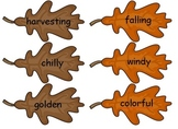 Parts of Speech Leaf Sort - Nouns, Verbs and Adjectives