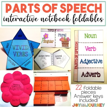 Parts of Speech MEGA Interactive Notebook Foldable Packet (Common Core Aligned)
