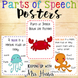 Parts of Speech - Ocean Theme Posters