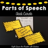 Parts of Speech Task Cards {ELA Review}