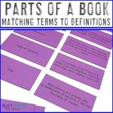Parts of a Book Center - Matching Terms to Definitions