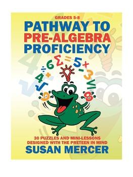 Pathway to Pre-Algebra Proficiency: 30 Puzzles and Mini-Lesson