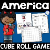 Patriotic Cube Roll Math Game