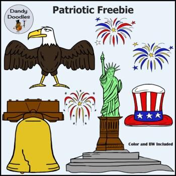 Patriotic FREEBIE Clip Art by Dandy Doodles