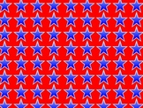 Patriotic Red, White, and Blue Borders, and Background gra