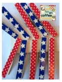 Patriotic Washi Clothespins {set of 10}