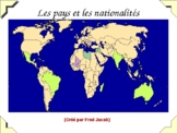 Pays du monde - Learning countries of the world in French