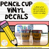 Pencil Cup Vinyl Decals