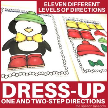 Penguin Dress Up Following Directions File Folder Activity