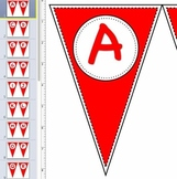 Pennant Letters RED