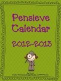Pensieve Calendar 2012-2013