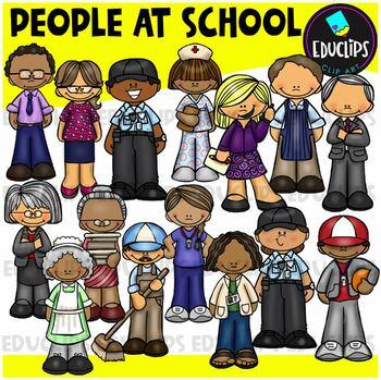People At School Clip Art Bundle
