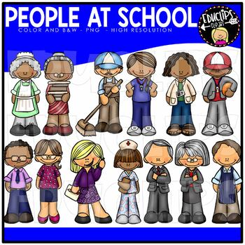 People At School Clip Art Bundle