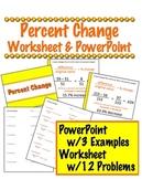 Percent Change PowerPoint & Worksheet